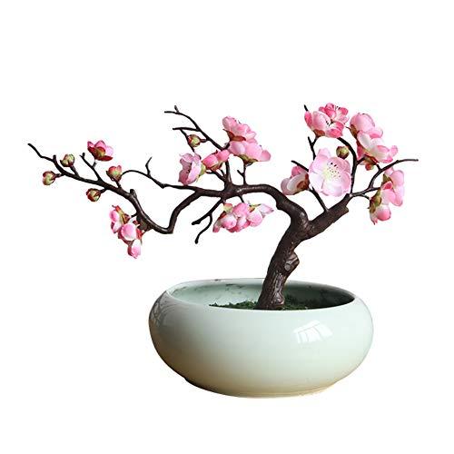 LamicARArtificial Plum Blossom Fake Flower Photo Props Wedding Home Office Shop Decor - Light ()