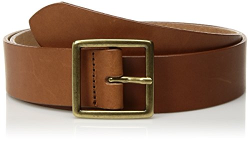 Circa Women's Handcrafted Italian Smooth Leather Belt, Cognac, ()