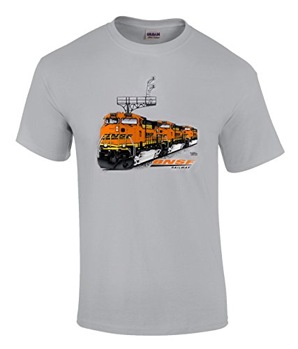 Daylight Sales BNSF ES44DC Authentic Railroad T-Shirt Kids Small (6-8) [38] Gray