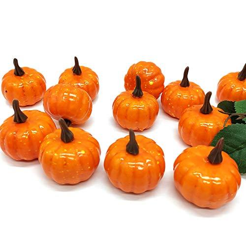 CHUANEG Artificial Pumpkins for Halloween Decorating, 1 PCS Mini Fake Pumpkins, Tabletop Decor Decorative Lifelike Artificial Vegetables for Home Garden Kitchen Party from CHUANEG