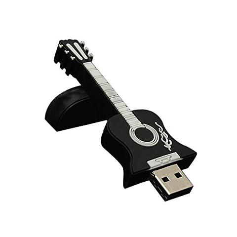 Aribelly 1gb/2gb/4gb/8gb/16gb/32gb Guitar USB 2.0 Metal Flash Memory Stick Storage Thumb U Disk (1GB, - Micro M2 Stick