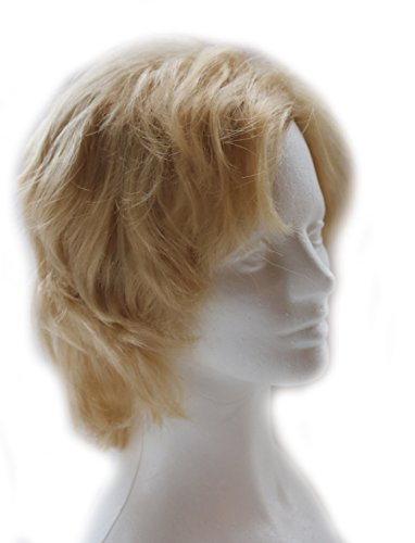 City Costume Wigs Blonde Shag Wig for Men and Women | 70's Style Blonde Shaggy Mullet Wig for Adults -