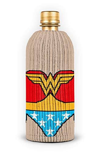 FREAKER Fits Every Bottle Can Beverage Insulator, Stops Bottle Sweat, DC Wonder Woman Suit Superhero Justice League]()