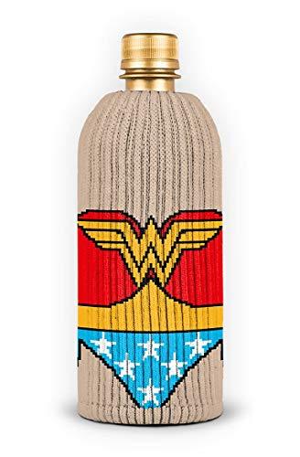 FREAKER Fits Every Bottle Can Beverage Insulator, Stops Bottle Sweat, DC Wonder Woman Suit Superhero Justice League (Koozie Bottle Woman Wonder)