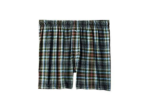 (Tommy Bahama Men's Printed Knit Boxer Shorts Multi Plaid Large)