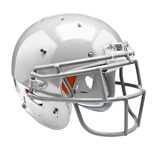 - Schutt Sports 798004 Youth Recruit Hybrid Football Helmet (Face Mask Included), White, Small