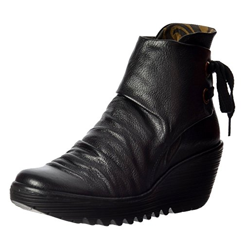 Fly London Yama Women Ankle & Bootie Black Mousse