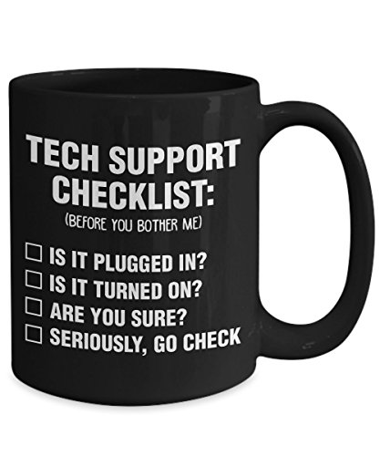 Tech Support Checklist Repairman Technician Coffee Mug