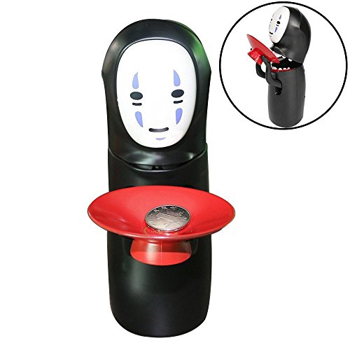 Piggy Bank Automatic Eat Coin, NO Face Man Automatic Coins Money Box, Gift for Christmas Hallowen Birthday, Not Including Batteries ()
