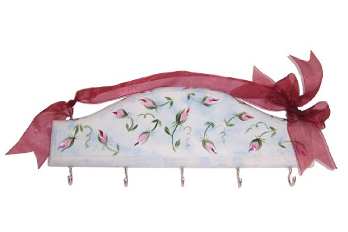 Price comparison product image Cute Tools Kitchen / Key Rack - Hand Painted Wooden Wall Rack With Hooks In The USA,  Organize Your CuteTools! Hang Tools,  Keys,  Hats,  OR Jewelry With The Help From Art For A Cause,  7th Heaven