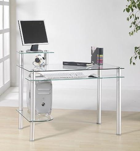 Computertisch drucker modern  Klarglas Schreibtisch Computertisch Bürotisch Tisch Design Modern ...
