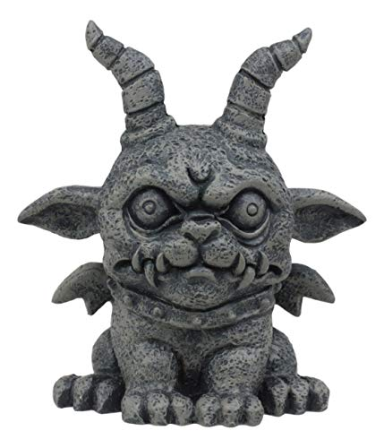 Ebros Gothic Horned Bulldog Gargoyle Agamon Figurine Small