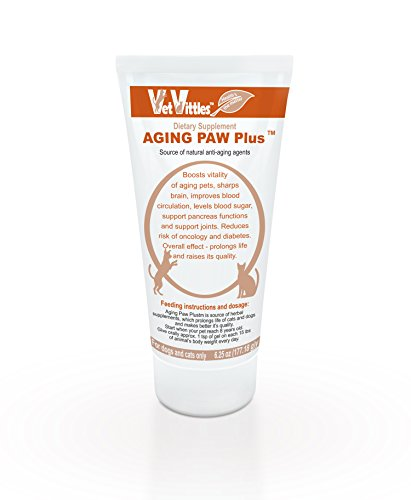 VetVittles AGING PAW PLUS Holistic Herbal Multi Vitamin and Supplement for Senior Dogs & Cats, 100% Natural Medical Veterinarian Product Made in USA, 6.25 oz (Multivitamin Vitality Senior)