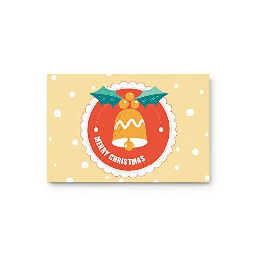 - MUSEDAY Winter Holiday Entryway Door Rug Floor Mat 18x30inch Jingle Bell with Polka Dots Doormat Indoor Shoe Scraper Rubber Entrance Mat for Living Dining Dorm Room