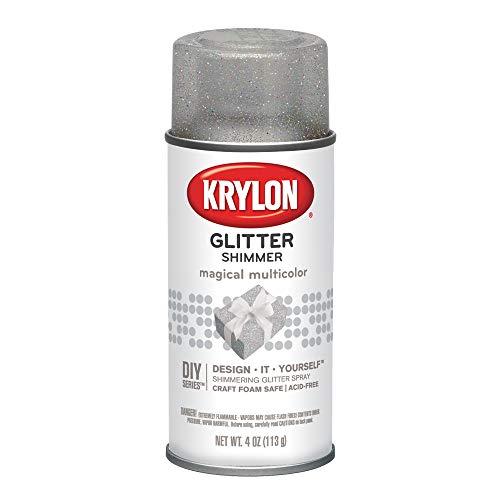 Krylon I00405 Glitter Aerosol Spray, Magical Multi-Color Finish