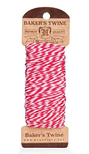 - Red and White Cotton Bakers Twine 100'