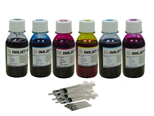 Ink refill set for CIS/CISS or refillable cartridges using Epson 77, 78 ink: Artisan 50