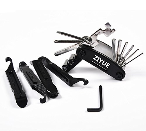ziyue Bicycle Tool Multi-Function Bike Cycling Bikes Tires Tool,Mechanic Repair Tools Kits With 4 pcs Tire Pry Bars Rods