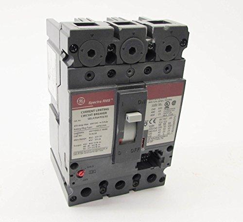 GE SELA36AT0150 Bolt-On Mount Type SEL Molded Case Circuit Breaker 3-Pole 150 Amp 600 Volt AC Spectra RMSTM
