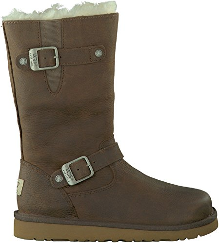 UGG Australia Kensington Toast Leather Girls Boots Size 5 -