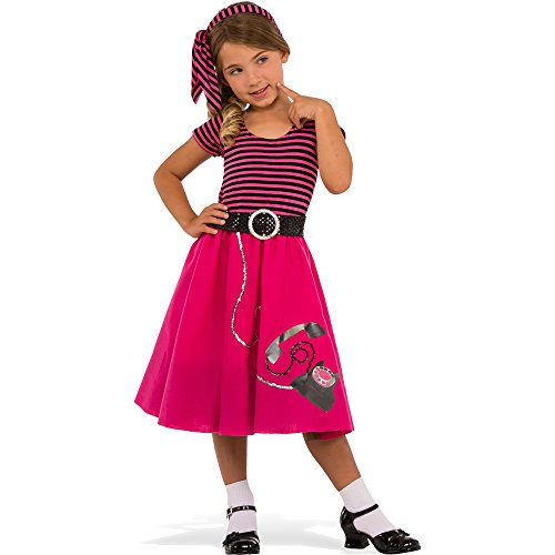 Rubies Costume Child's 50's Girl Costume, Large, Multicolor