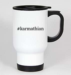 #karmathian - Funny Hashtag 14oz White Travel Mug