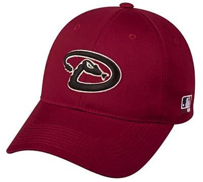 MLB ADULT Arizona DIAMONDBACKS Home Red Hat Cap Adjustable Velcro TWILL