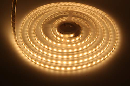 (LEDMY UL Listed DC24V IP68 Waterproof Flexible LED Strip Light SMD5050,String Light, 300LEDs Warm white 3000K, Adhesive Led Tape Light for Fountain, Outdoor, Aquarium, Swimming Pool Using 5M/16.4F)