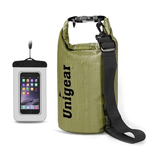 Unigear Dry Bag Sack, Waterproof Floating Dry Gear Bags for Boating, Kayaking, Fishing, Rafting, Swimming, Camping and Snowboarding (Yellow, 5L)