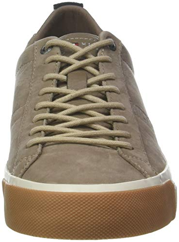 Taupe Nubuck 005 Hilfiger Tommy Sneaker Beige Basses Sneakers Homme Grey Derby fqO88nU
