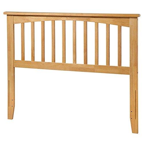 Atlantic Furniture AR287845 Mission Headboard Queen Natural (Natural Wood Headboard)