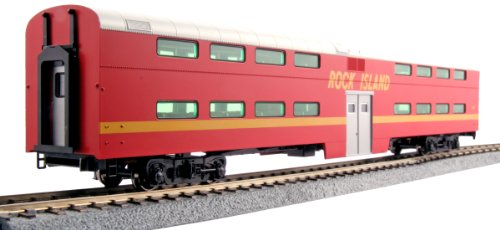 Kato USA Model Train Products Pullman Rock Island #157 Bi-Level 4-Window Coach