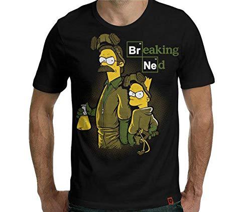 Camiseta Breaking Ned Cor:preto;tamanho:g