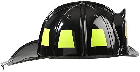 Amazon.com: Casco de bombero, negro, ajustable de ...