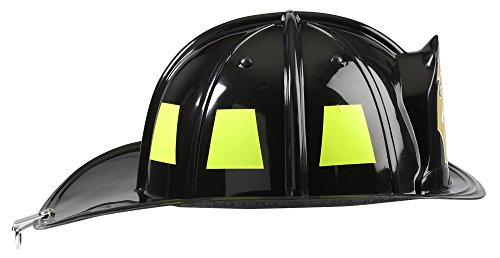 Aeromax Jr. Firefighter Helmet, Black, Adjustable Youth Size
