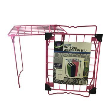 Locker Planet Hot Pink - Extra Tall Stackable Wire Shelf - Exclusive Color Collection by LP