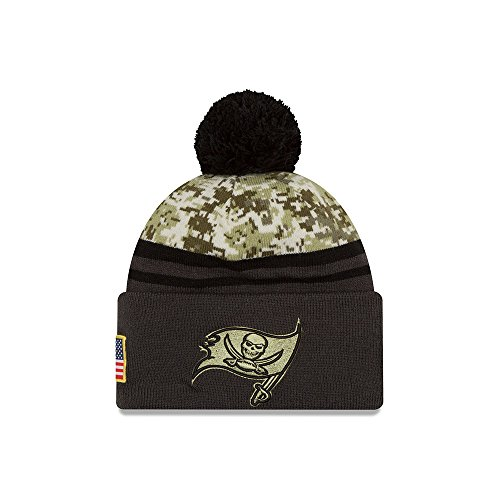 2016 Men's New Era Salute to Service Knit Hat (One Size, Tampa Bay Buccaneers) ()