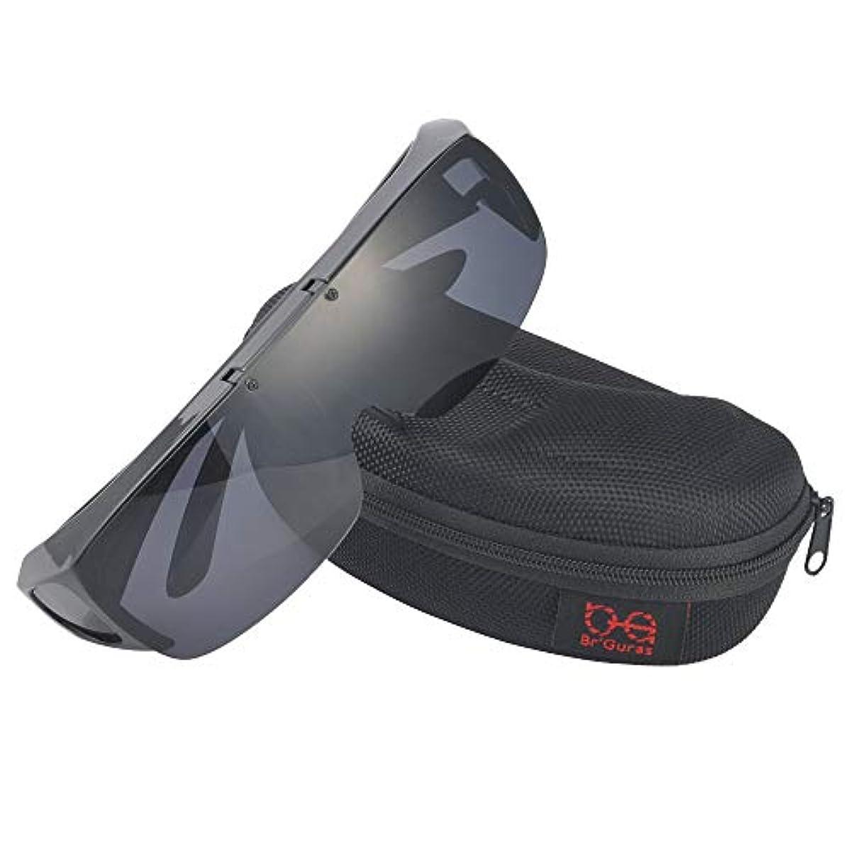 [해외] BR'GURAS over글래스 편광 썬글라스 안경을 건(걸친) 채로 대응 썬글라스 뛰어 인상식 UV400 자외선 컷 사이클링,낚시,런닝,야구 모습 좋은 썬글라스