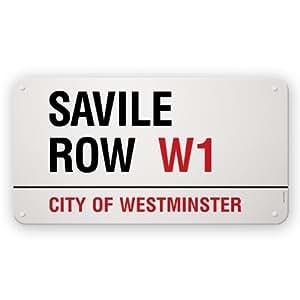 Streetname Desire - Placa (75 x 40 cm, acero esmaltado), diseño con texto Savile Row City of Westminster