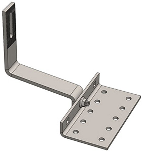 Magerack Height Adjustable Low Tile Hook Bracket for Solar Panel PV Module Mounting Racking on Tile Roof Pack of 10