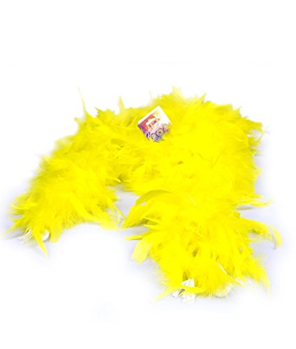 Fun Central AU010 6 inch Adult Feather Boa (Yellow)
