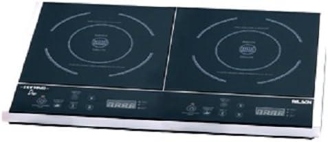 Palson Techno Duo - Placa de inducción, display digital, selector electrónico de temperatura, tiempo y potencia, 57.5 x 35 cm, 3400 W, color negro