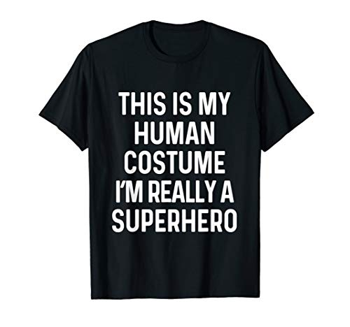 Funny Superhero Costume Shirt Halloween Kids Adult Men Women ()