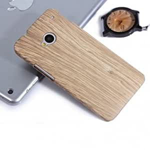 Wood Grain Protective Case For HTC One International Version --- Color:Yellow