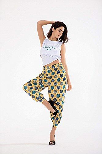 7 De Imprimer 8 Haute Elastische Décontracté Femmes Loisirs Taille Mode 1 Sarouel Temps Été Jogging Jeune Élégant Couleur wgI1nqgEv