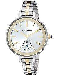 Anne Klein Womens AK/2991SVTT Two-Tone Bracelet Watch