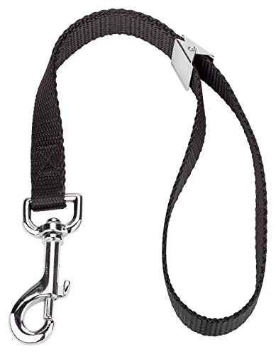 1 - Country Brook Petz­ 5/8 Inch Black Nylon Spring Loaded Grooming Loop