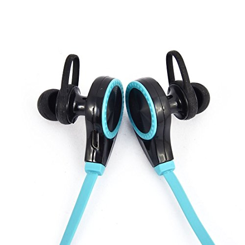 Amazon.com: eDealMax Deporte sudor Prueba de reducción de ruido auriculares estéreo inalámbrico Bluetooth Auricular Azul: Electronics