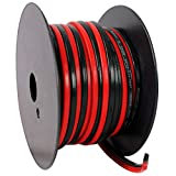 Rockville R14GSBR100 Red/Black 14 Gauge 100-Feet Mini Spool Car Audio Speaker Wire
