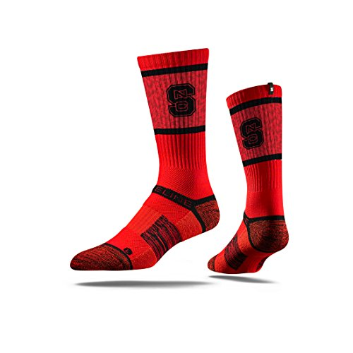 - Strideline NCAA North Carolina State Wolfpack Premium Athletic Crew Socks, Red, One Size